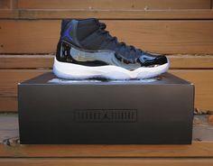 best service c2fef 22064 Nike Air Jordan Retro 11 XI Space Jam 378037-003 Black Concord IN HAND Size  9.5