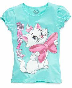 Disney kids t-shirts, little girls aristocats tees - kids - macy's yen Disney Shirts For Family, Shirts For Girls, Uk Shirts, T Shirt Painting, Girls Summer Outfits, Aristocats, Kids Prints, Disney Outfits, Little Girls