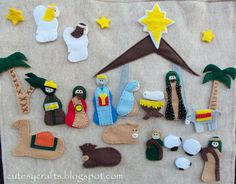 Get creative this Christmas making your own DIY Advent Calendar. Check out this pick of the best Easy and Simple Advent Calendars to make. Diy Nativity, Christmas Nativity, Christmas Countdown, Felt Christmas, Christmas Holidays, Nativity Sets, Xmas, Christmas Stuff, Christmas Ideas
