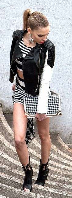 Stars, Stripes And Houndstooth Outfit Idea