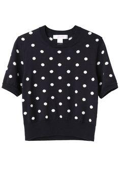 Comme des Garçons Shirt / Polka Dot Cropped Knit | La Garçonne