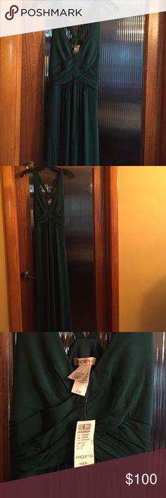 Arden B Dark Green Gown Brand New elegant gown in dark green! Arden B Dresses Wedding