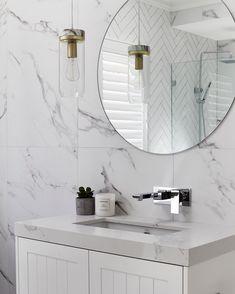 "1,681 Likes, 34 Comments - THREE BIRDS RENOVATIONS (@threebirdsrenovations) on Instagram: ""Bathroom BLISS Tiles by @ambertiles Silverstone Struto extra matt 1200x600 | Vanity made by…"""
