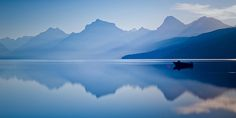 It was a perfect morning photographing the colorful sky over Lake McDonald in Glacier National Park, Montana.