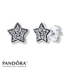 Pandora Star Earrings Clear CZ Sterling Silver. i have these ive lost them and i wish i could find them.