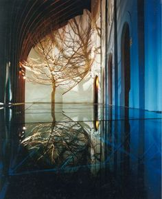 Hungarian Pavilion Seville, World EXPO, by Makovecz Imre Organic Architecture, Futuristic Architecture, Temporary Architecture, Seville Spain, Tree Roots, Exhibition Space, Growing Tree, In The Tree, Pavilion