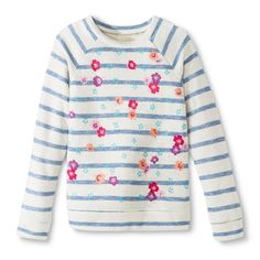 cb0524c901e2a Girls  Striped Sweatshirt .
