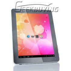 9.8 Inch JXD S9000 OEM Android 4.0 IPS Screen Tablet PC Allwinnder A10 1.5Ghz 1GB RAM 16GB Dual Camera HDMI Ultra Thin Silver $189.99