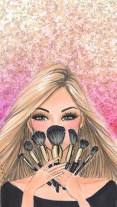 tapeten make-up mode illustrationen kunst Body Makeup, Skin Makeup, Eyeshadow Makeup, Eyeliner, Makeup Backgrounds, Makeup Wallpapers, Iphone Backgrounds, Wallpaper Backgrounds, Makeup Illustration