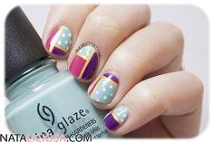 Uñas de patchwork con lunares, colores alegres ¡y un esmalte muy especial!