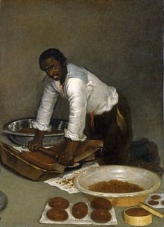 Anonymous; A Man Scraping Chocolate (oil on canvas). c.1680–1780. The North Carolina Museum of Art, Raleigh.