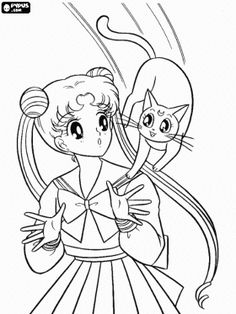 Free Anime coloring pages!!!!!!  They have a HUGE selection of anime and manga that you can 'color' online, or print out for personal use!  I started squealing at work when I saw the Sailor Moon one's
