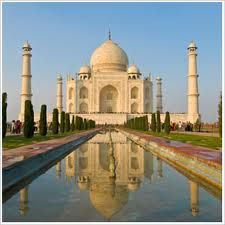The Taj Mahal in Agra, India. A mauseleom built by an emperor in memory of his late wife.  Truly romantic.