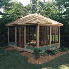 The wooden pergola is a good solution to add beauty to your garden. If you are not ready to spend thousands of dollars for building a cozy pergola then you may devise new strategies of trying out something different so that you can re Screened Gazebo, Hot Tub Gazebo, Backyard Gazebo, Garden Gazebo, Patio Roof, Diy Gazebo, Pergola Patio, Vivarium, Cabana