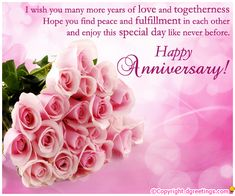 Wish a couple on their anniversary with this beautiful message.