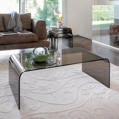Tonin Casa Tavolino da salotto in vetro - Anemone 6850