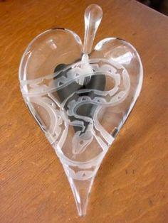 Art Glass SNAKE Perfume Bottle Valerie Surian M Nourot in Pottery & Glass, Glass, Art Glass, Studio/ Handcrafted Glass   eBay
