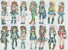 Sally Creepypasta outfits by 1gothGRRL.deviantart.com on @deviantART