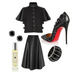 """Black"" by sistagirll on Polyvore featuring Henri Bendel, Christian Louboutin and Jo Malone"