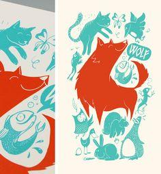 Friendly bunch of animals   Illustration by Patswerk Grafisch