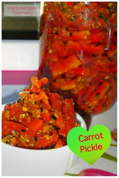 How to prepare Carrot Pickle Fried Fish Recipes, Veg Recipes, Cooking Recipes, Vegetarian Cooking, Vegetarian Recipes, Indian Carrot Recipes, Indian Pickle Recipe, Carrot Pickle Recipe, Indian Cookbook