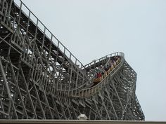 Wooden roller coasters are unique in that they capture the true essence of a roller coaster ride. To roller coaster enthusiasts, they're pure. Roller Coaster Ride, Roller Coasters, Scary Bridges, Cedar Point, Wooden Coasters, Lake Erie, Amusement Park, Outdoor Furniture, Outdoor Decor
