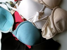 Bras  Check out the Bra Recyclers website to learn more about the Bosom Buddies Program in which donated bras of all shapes and sizes are given to local shelters or redistributed to women in developing nations.