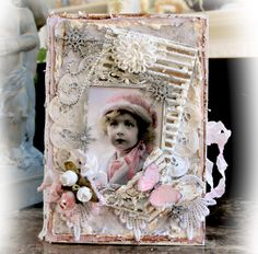 Reneabouquets's Gallery: Frosty Vintage Altered Book Box **Tresors De Luxe**