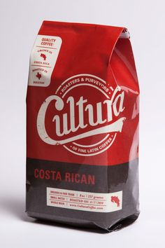 Bold colour. Easy to differentiate between range/type. Cultura Coffee Roasters on Behance