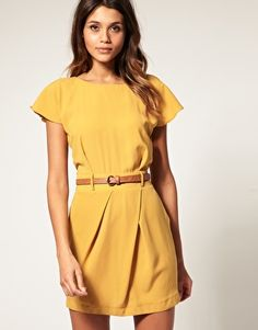 Mini Tulip Dress with Flute Sleeves / ASOS #dress