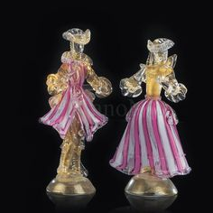 Murano glass Goldonian couple
