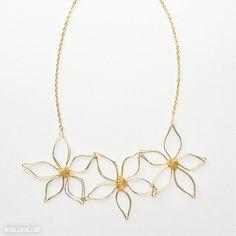 Flower Power: DIY Anthro Flower Necklace