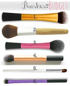 Brushes on a Budget! Best makeup brushes under $10 And they work wonders. Worth every dollar!!!!