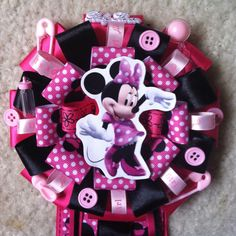 Minnie Mouse Baby Shower Corsage