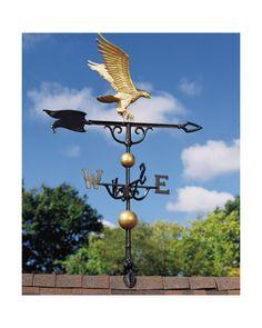 "Bronze Gold 46/"" Full Bodied Eagle Weathervane"