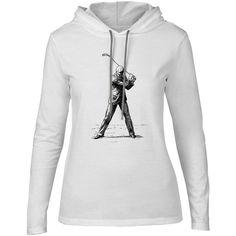 Mintage 19th Century Golfer Womens Fine Jersey Hooded T-Shirt