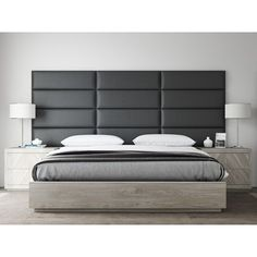 Shop for VANT Upholstered Headboards - Accent Wall Panels - Vintage Leather Black Coal - 39 Inch Twin-King - Set of 4 panels. Get free delivery at Overstock - Your Online Furniture Shop! Get in rewards with Club O! Black Bedroom Furniture, Bedroom Furniture Stores, Home Decor Bedroom, Bedroom Ideas, Modern Bedroom, Ikea Bedroom, Furniture Layout, Contemporary Bedroom, Cheap Furniture