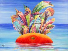 La gran manzana | Big Apple | Acrílico sobre lienzo | Acrylic on canvas by Pili Tejedo 135 x 100 cm