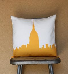 Empire State Building Pillow