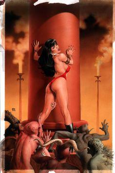 VAMPIRELLA LEGENDARY TALES #2 COVER ( 2000, MIKE MAYHEW ) Comic Art