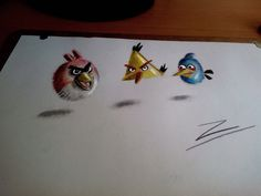 Angry Birds 3D draw
