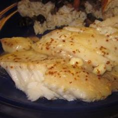 Sweet Dijon Basa Swai Fish (or a fish of your choice) Allrecipes.com.   A little too sweet, need to work on the balance of spicy and sweet, the honey over powered.