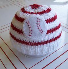 baseball knitted hat: super cute for @Marissa Joy's someday baby boy :-)