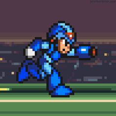 Mega Man X Evolution by Brother (from Brother Brains collection of old school pixel animations)