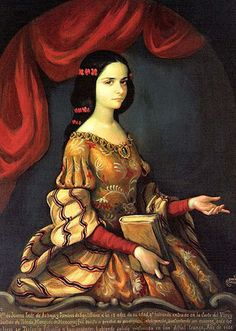 Sor Juana Inés de la Cruz - Mexico - 1664: Sister Juana was a self-taught scholar, poet, and nun in New Spain. Although she lived in a colonial era when Mexico was part of the Spanish Empire, she is considered today a Mexican writer, and stands at the beginning of the history of Mexican literature in the Spanish language. She also learned the Aztec language of Nahuatl, and wrote some short poems in that language. #womens #history #medieval era #religious #latina #women #authors