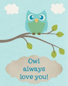 """Owl Always Love You"" Owl Printables - A Spectacled Owl"