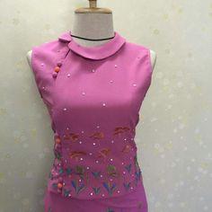 Cute Myanmar Top, Asymmetrical Peterpan Collar, #Yin-Phone