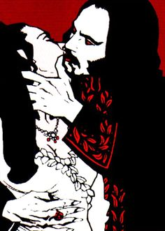 Mina and Dracula detail from tpb by Mike Mignola.
