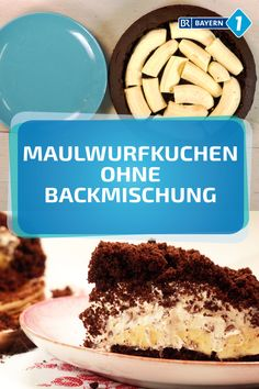 Maulwurfkuchen: Ganz leicht auch ohne Backmischung Chocolate cake with banana cream filling: The Mole Cake is a classic and actually a simple cake. A light recipe for self-baking. Holiday Desserts, No Bake Desserts, Easy Desserts, Holiday Recipes, Dessert Recipes, Dessert Simple, Bon Dessert, Mole, Cheesecake Leger