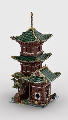 Temple of Hermit - Lego - Lego Design, Legos, Chateau Lego, Diy Lego, Temple, Amazing Lego Creations, Lego Pictures, Batman Action Figures, Lego Castle